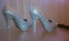 Crystal Sparkle Shoes High Heels by sillydi on Etsy,