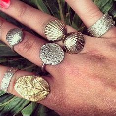 Ring collection handmade by silversmith Kate Macindoe