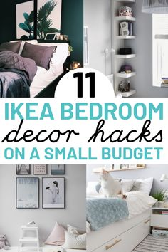 Diy Vintage Home Decor 11 IKEA hacks for bedroom. These IKEA hacks are great for anyone on a budget looking to transform your bedroom. Including IKEA Kullen nightstand hack, IKEA chest of drawers hack and IKEA midcentury hack ideas. Ikea Hacks, Cheap Home Decor, Diy Home Decor, Ikea Bed Frames, Ikea Chest Of Drawers, Ikea Bedroom Furniture, Furniture Dolly, Bedroom Hacks, Bedroom Decor