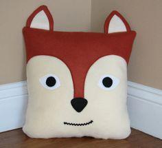"Fox Pillow by My3SillyMonkeys on Etsy, $20.00 14X14"""