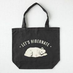 Market Tote Bag - Let's Hibernate | west elm, $18