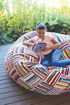 Handwoven Bean Bags | Beanbags | Boribori | Ejoro | Love Seat | Tana covers…