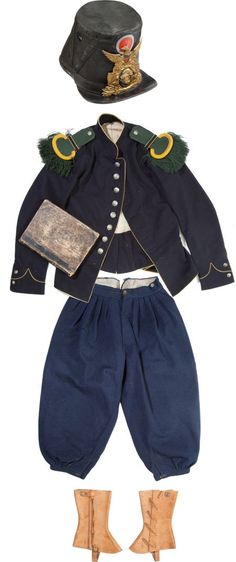 American Civil War Artifacts -                                                      French Import Uniform Identified to a Hard-fighting Member of the 62nd Pa Vol Inf