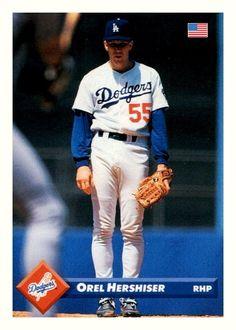 Orel Hershiser, Los Angeles Dodgers, Mlb, Baseball Cards, Sports, Hs Sports, Dodgers Baseball, Sport