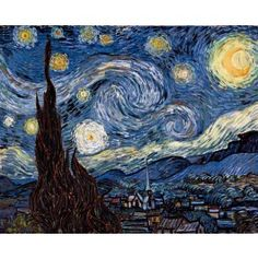Van Gogh Starry Night - the first painting I fell in love with many many years ago
