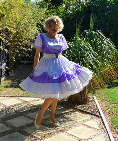 Lavender and lace square dance outfit