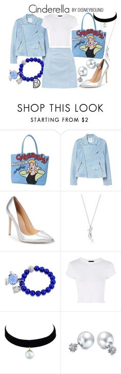 """""""Cinderella"""" by leslieakay ❤ liked on Polyvore featuring MANGO, Daya, Disney, Topshop and Bling Jewelry"""