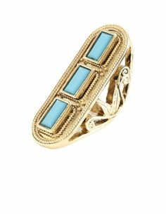 Metallic Three Stone Ring: Charlotte Russe