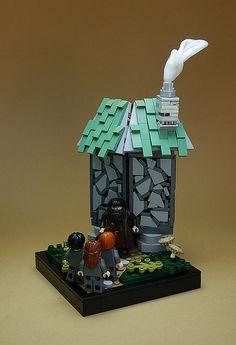 27 amazing LEGO vignettes bring Harry Potter to life Lego Wall, Lego Activities, Lego Mecha, Lego Castle, All Lego, Lego Worlds, Cool Lego Creations, Lego Harry Potter, Lego Projects