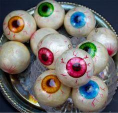Bloodshot Eyeballs Bowl Fillers & Ornaments   Eye Halloween Prop - The Holiday Barn