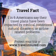 To learn more about travel insurance visit www.travelinsured.com!   #travel #travelinsured #travelinsurance