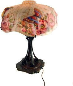 """Signed """"The Pairpoint Corp."""" Puffy Lamp with Reverse Shade"""