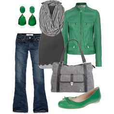 Just got a green patent leather belt from H&M in Atlanta.  This outfit is rocking the green.  I love, love, love it!