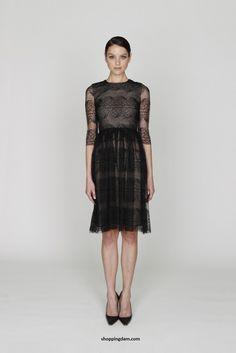 monique illulier   Monique Lhuillier Black Pre-Fall 2012 Collection