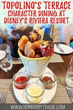 Get the scoop on Breakfast a la Art at Topolino's Terrace - the newest character breakfast at Disney World. Meet Mickey, Minnie, Donald, and Daisy at this rooftop restaurant at Disney's Riviera Resort. Click for tips and info! #DisneyWorld #WDW #Mickey #USA Disney World App, Disney World Resorts, Disney Vacations, Disney Travel, Usa Travel, Disney Trips, Travel Tips, Florida Travel, Travel Ideas