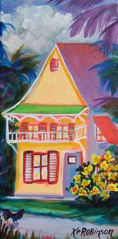 Key West House 27 Original Fine Art Painting by KeROBinson on Etsy, $125.00