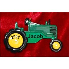 Big Green Tractor - Personalized Family Christmas Ornament