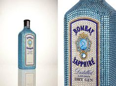 Bedazzled Liquor Bottles