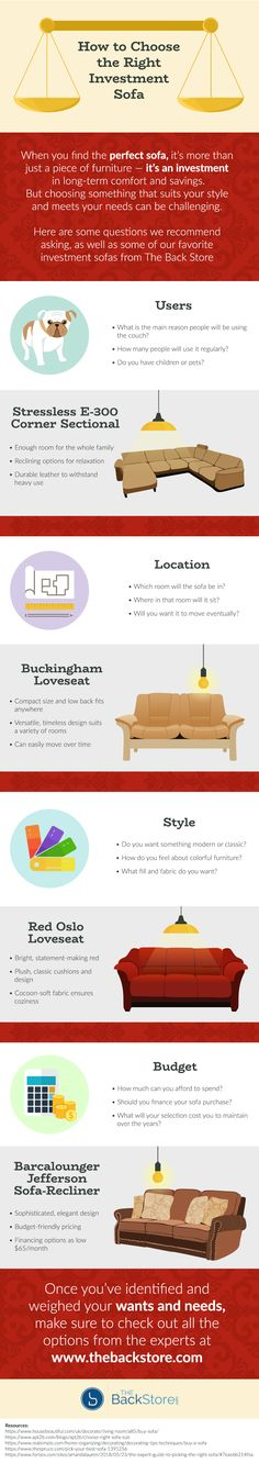 How to Choose the Right Investment Sofa [Infographic] Luxury Home Furniture, Choose The Right, Cozy Bed, Investing, Infographic, Things To Come, Sofa, Make It Yourself, Check