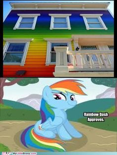 Rainbow Dash approves this house - and so do I!
