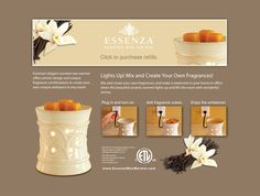 Essenza Wax Warmer - safer and longer lasting than candles