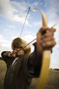 Mónus József here is a multiple record-holder in Hungarian traditional long-distance archery