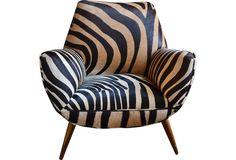 Zebra Chair - One Kings Lane - Vintage & Market Finds - Furniture