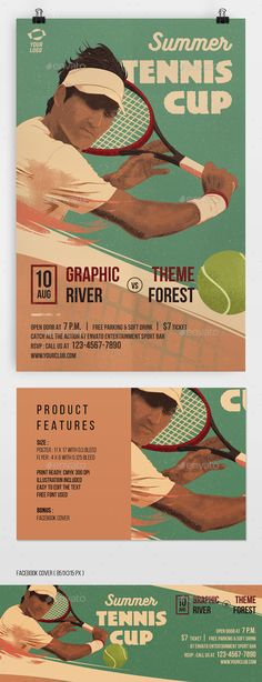 Tennis Match Flyer Poster - PSD Template • Only available here ➝ http://graphicriver.net/item/tennis-match-flyer-poster/16820117?ref=pxcr