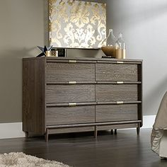 Special Offers - Sauder International Lux Dresser in fossil oak - In stock & Free Shipping. You can save more money! Check It (June 12 2016 at 12:34PM) >> http://adjustablebedusa.net/sauder-international-lux-dresser-in-fossil-oak/