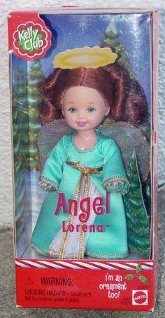 kelly dolls mattel | mattel 2001 kelly club angel lorena doll ornament mat0602a mattel ...