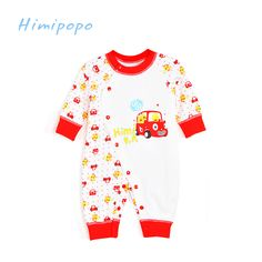 >> Click to Buy << Himipopo Cartoon Baby Rompers for Boy Girls Cotton Infant Jumpsuit Long Sleeve Baby Coverall Covered Button Newborn Clothing Set #Affiliate