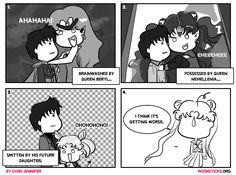 MoonSticks Sailor Moon Comic/Doujinshi #70 Mamoru Belongs to Me! featuring Mamoru Chiba/Prince Endymion, Queen Beryl, Queen Nehellenia, Chib...