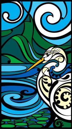 Shane Hansen is a Maori Artist based in Aotearoa New Zealand. His artwork is mostly themed around native birds, his heritage and connection to the land. Art Maori, Art Nouveau, Maori Patterns, New Zealand Art, Nz Art, Abstract Geometric Art, Art Classroom, Classroom Ideas, Bird Art