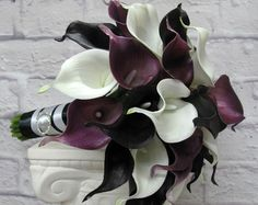 Wedding Bouquet Real touch calla lily by BrideinBloomWeddings