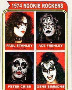 1974 Rookie Rockers! . . . #KISS #petercriss #acefrehley  #kissarmy #kiss #kissnation #kisstory #kissalive #kissmyass #kissband #kissarmy #monstersofrockradio #1974 #topps #toppsbaseball #monstersofrock30th #kissme #kissmusic #kissrockband #kissworld #kissonline #paulstanley #genesimmons #kissrocks #kissology #kissfan #monstersofrock #monstersofrock #acefrehleyarmy #detroitrockcity