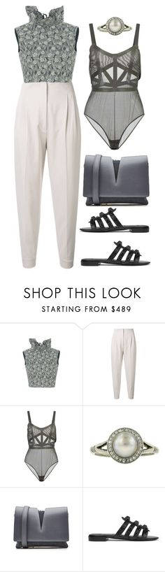 """High Collar"" by cherieaustin ❤ liked on Polyvore featuring MaxMara, Jil Sander and Balenciaga"