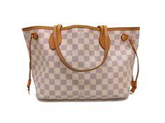 Louis Vuitton Damier Azur Neverfull PM Tote bag N51110 0528 #LouisVuitton #TotesShoppers
