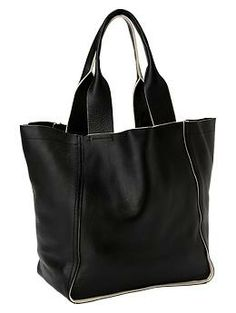 Large leather tote  @Gap