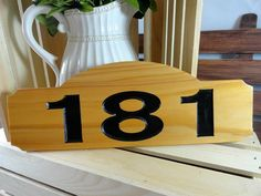 Address Sign Wooden Street Sign Home Address Sign by AllWoodToo  $14.99  Click on photo to BUY NOW!  Are you looking for a simple, but nice quality address sign? #allwoodtoo creates a few different styles to fit your needs. They are created from cedar wood, and numbers are painted black.  Click here: allwoodtoo.etsy.com to see more!