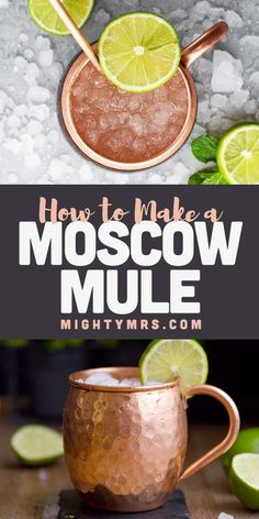 How to Make a Moscow Mule - This classic cocktail in an iconic copper mug is easy to make at home using vodka, ginger beer and lime juice with mint for garnish and extra flavor. The light and freshing taste pairs well with just about any meal. An excellent mixed drink to enjoy all year round. Add fresh seasonal fruits to give this a twist of on the original flavor. Try adding cranberries, oranges, blackberries or other fruits. Make this with whiskey instead of vodka and you get a Kentucky…