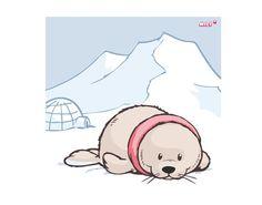 Leinwandbild White World Baby Animals, Cute Animals, Cute Disney Outfits, Cute Animal Illustration, Future Tattoos, Stone Painting, Arctic, Painted Rocks, Free Printables