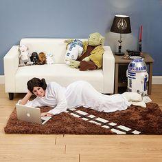 Galaxy Fantasy: Es una gozada pasar momentos inolvidables viendo Star Wars en esta Alfombra de Chewbacca