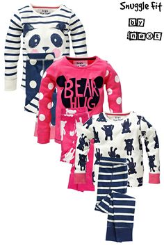 Buy Bear Panda Snuggle Pyjamas Three Pack (12mths-6yrs) from the Next UK online shop