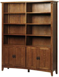 Artisan Double Bookcase $476 (but reviews say, ironically, it's of low quality workmanship)