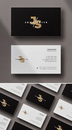 Simple minimal business card templates perfect for personal identity or minimalist design business. The clean minimal business card designs crafted with high Business Cards Layout, Luxury Business Cards, Gold Business Card, Minimalist Business Cards, Unique Business Cards, Business Card Design Modern, Creative Business, Business Card Logo, Id Card Design
