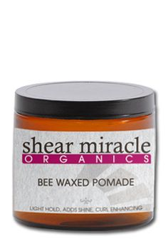Organic pomades have special qualities. They have no silicones or plastics. Adding light hold, mega shine, texture & even enhancing curls are just the icing on the cake for this amazing product. Shea butter & hemp seed oil are just two of the nourishing ingredients used to deeply protect & moisturize your hair from the roots. 2oz, $27.99
