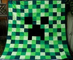 Mine Craft handmade quilt.... I need to make this for my son - Christmas gift for sure!