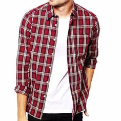 Get Maroon and White Flannel Shirt with wholesale flannel shirt manufacturer, Alanic Global.