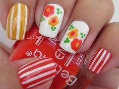 Nail Art - Candy Flowers - Decoracion de Uñas