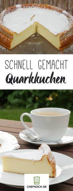 Dieser saftige Quarkkuchen ist in 10 Minuten fertig für den Ofen. Mit Video von koch-kino.de.